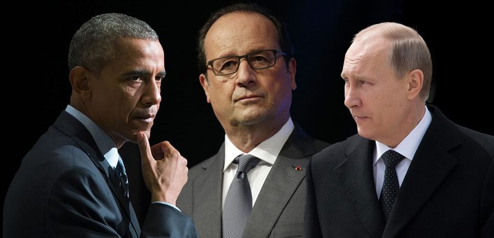 Entre Obama et Poutine, le grand écart de Hollande sur la Syrie